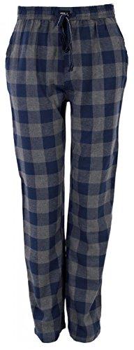 MG-1 warme Herren FLANELL Pyjamahose Schlafanzug Hose, Homewear kariert Farbwahl DESIGN 02