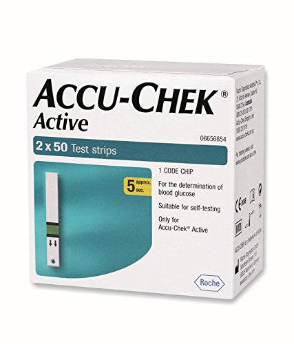 Accu-Chek Active 100 Test Strips(2 X 50)  available at amazon for Rs.1406