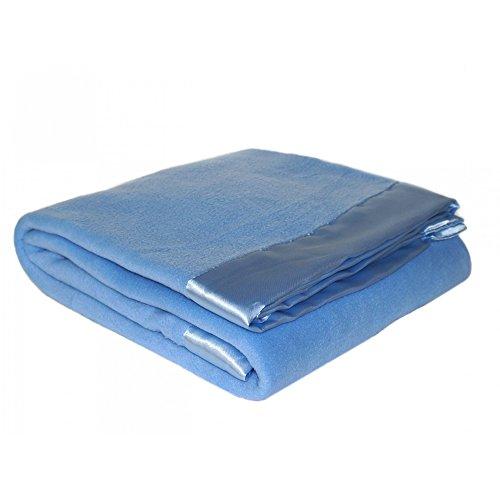 Home Harmony Vließ Decke (140 x 180cm) (Blau) - Tagesdecke Ausgestattet