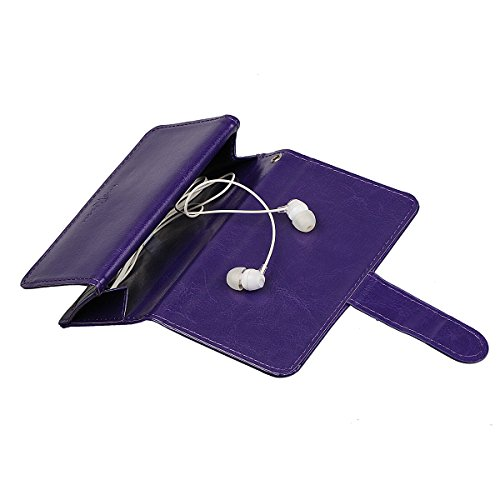 """iPhone 6 plus (5.5"""")Hülle wallet case,xhorizon TM FM8 2 in 1 Premium Leder [Brieftasche Funktion] [Magnetisch Abnehmbar] Wristlet Geldbörse Mehrfache Karten-Schlitze Abdeckung Folio Schutzhüller für i Lila"""