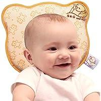 Sch/ädelverformung Orthop/ädisches Babykissen gegen Plattkopf mit Bez/ügen zur Heilung und Vorsorge der Plagiozephalie Babykopfkissen