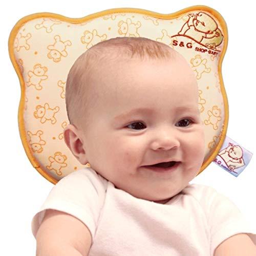 Cuscino neonato plagiocefalia sfoderabile (con due federe) per la prevenzione e cura della testa piatta in memory foam antisoffoco - s&g shop baby