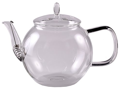 Feelino special edition - teiera da 800 ml con filtro nel beccuccio e coperchio in vetro, per 2 persone, in vetro borosilicato resistente al calore, lavabile in lavastoviglie