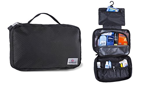 Suvelle Hanging Toiletry Travel Kit Organizer Cosmetic Bag -