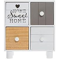 elbmöbel Joyas – Cómoda Shabby Home Sweet Home cajones Mini de ...