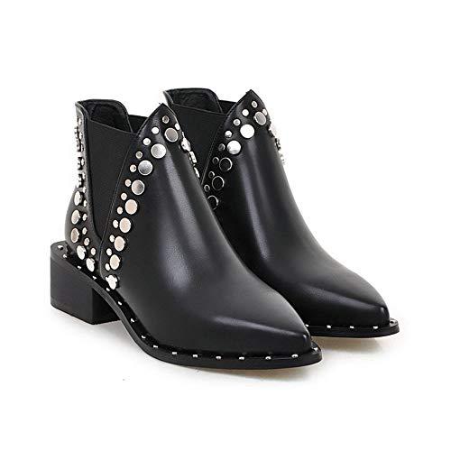 NAFTY Zapatos De Mujer Negro Invierno PU Zapatos de Mujer de...