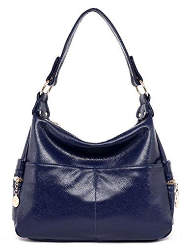 Xinmaoyuan Borse donna Middle-Aged Madre Borsa borsetta pacchetto Large-Capacity tracolla messenger bag,rosso Blu scuro