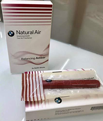 BMW Véritable Naturel Air Désodorisant Voiture équilibre Kit Recharge Amber, 83122285676