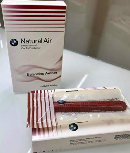 BMW Originale Kit di Ricarica Ambra per Ricarica Deodorante per Auto Naturale 83122285676