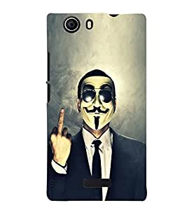 TOUCHNER (TN) Marks Back Case Cover for MICROMAX NITRO2