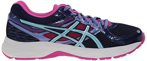 Asics Womens Gel Tactic Volleyball Shoe Indigo Blue/Aqua Splash/Pink Glow