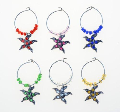 Cheers-Vino Charm stella marina in metallo-2 - Stella Vino Charm