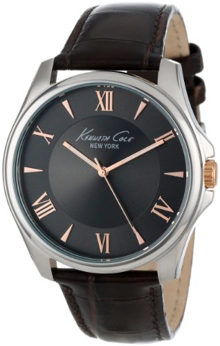 Kenneth Cole Men's Modern Core KC1995 Brown Leather Quartz Watch with Grey Dial