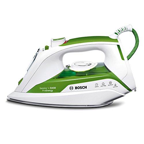 Bosch TDA502412E Sensixx'x Da50 Proenergy Ferro da Stiro, Colore Bianco/Verde, 2400 W