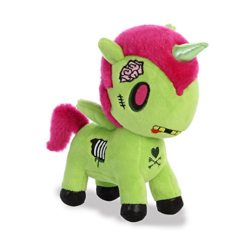 Unicorno Plush Toy, Green, 8-Inch