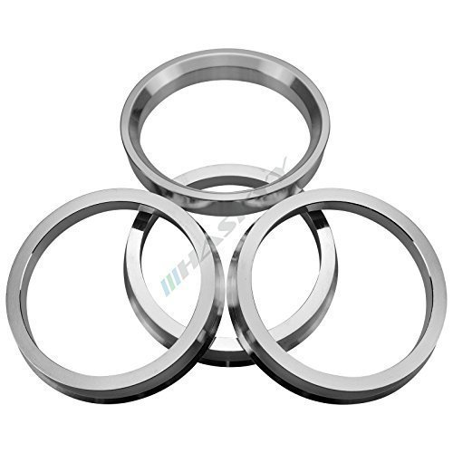 Haskyy 4 Aluminium Zentrierringe Ø 66,6 - Ø 57,1 RH Platin Wheelworld CMS Borbet Felgen