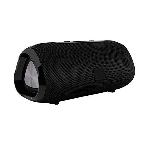 Drahtloser Bluetooth-Lautsprecher Subwoofer Tragbarer Lautsprecher Mit Mikrofon Außenlautsprecher Soundsystem 10 W Stereo-Musik Tragbare Surround-Lautsprecher Schwarz -
