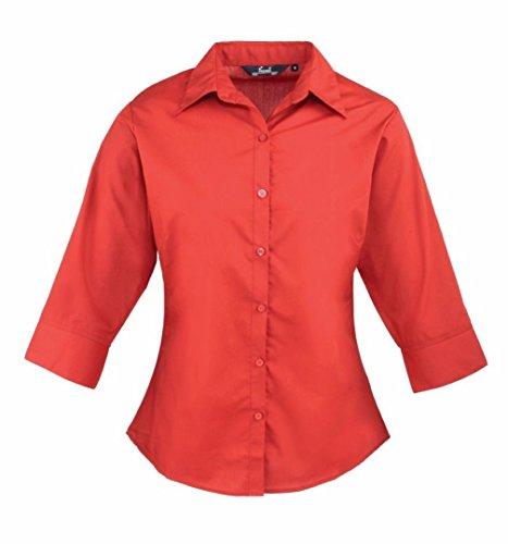 Premier 3/4 sleeve poplin blouse