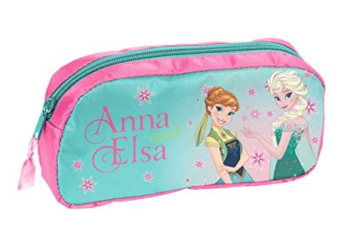 Ragusa-Trade Disney Frozen - Die Eiskönigin ELSA Anna Federtasche Federmappe Schlamper (DRL), blau/rosa, 20 x 10 x 4 cm