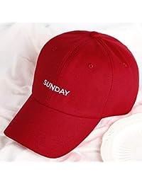 AMZ Cappellino da Baseball Inglese da Ricamo da Uomo e da Donna di Marea  Selvaggia Settimana 903288be96ca