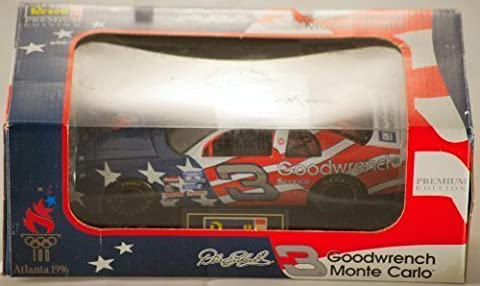 1996 - Revell-Monogram / NASCAR - Revell Premium Edition - Dale Earnhardt #3 - Goodwrench / 100 Atlanta Olympics - Chevrolet Monte Carlo - 1:24 Scale Die Cast - May 18, 1996 / Charlotte Motor Speedway - Car Retired After Race - Rare - Limited Edition - Collectible by Revell