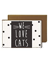 We Love Cats Credit Card Wallet By Robobull