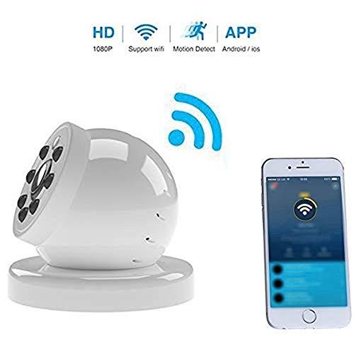 Lqqsxt Kamera Mini WiFi Wireless IP Kamera Sicherheit HD 1080p Monitor Nachtsicht 140 Grad Weitwinkel Versteckter Cam DVR-Recorder 140 Grad Weitwinkel, für Kind/Tier/Ältester (Wireless-sicherheits-dvr-kamera)