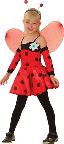 Child 11-13 Years Lovely Ladybug New Fancy Dress Costume Ladybird Book Week Kids