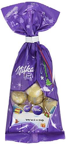 Milka Weihnachts-Kugeln Weisse, 10er Pack (10 x 100 g)