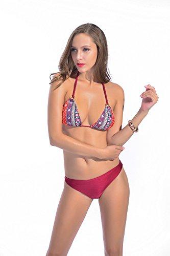 Bikini, Lady Badeanzug Anzug Drucken s