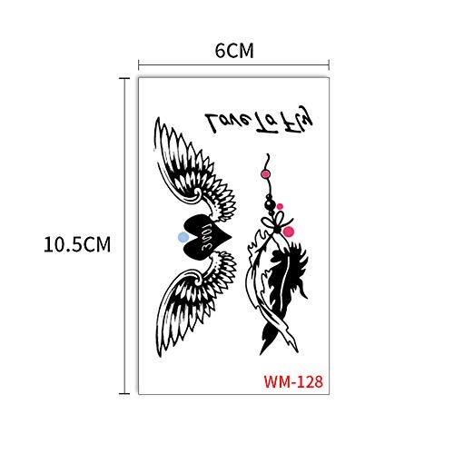 adgkitb Tattoo Aufkleber Kreative koreanische Art unabhängige Hirschpflaumenblume Tattoo 10 6x10.5cm (Tattoo Lippen Koreanisch)