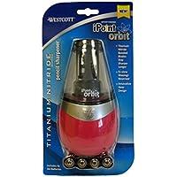 Westcott iPoint Orbit Titanium-Temperamatite elettrico, colore: rosa, in ufficio, art supplies perfetto per la scrivania da ufficio