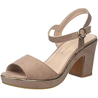 Dorothy Perkins Women's Wide Fit Rhonda Platform Sandals, Pink (Nude 835), 6 (39 EU)