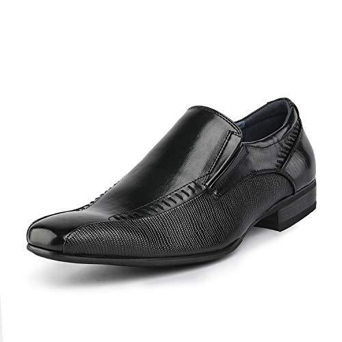 Bruno Marc Herren Gordon-02 Schwarz Gefütterte Kleid Loafer Slip-On Schuhe Größe 41.5 EU - Herren Loafer Gurt