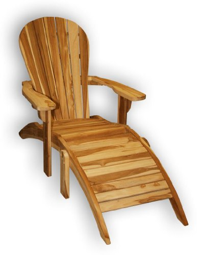 KMH, Teak Adirondack Chair Classic mit Fußablage (#102029)