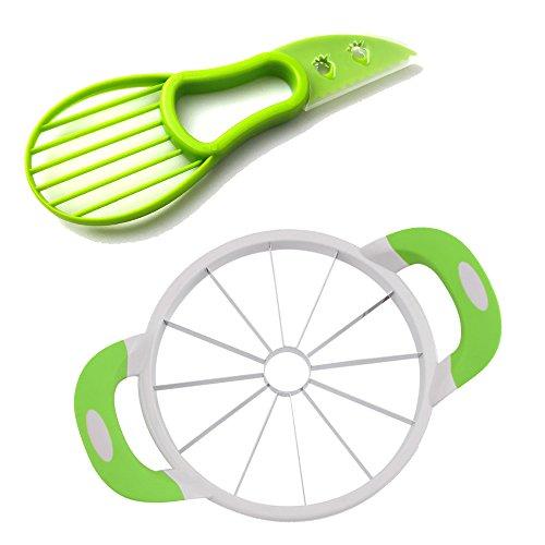 Anguria affettatrice, taglia anguria multiuso kitchen anguria affettatrice veloce e facile da usare kitchen, e più semplice get 12 fette perfette - taglia avocado