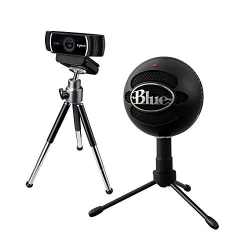 Logitech Streaming-Starter-Pack - Blue Snowball Black iCE USB-Mikrofon + C922 Pro Stream Webcam (Streaming in Full HD mit 1080p und Stativ und kostenloser 3-monatiger XSplit-Lizenz) schwarz