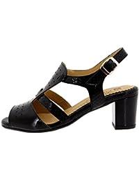 Chaussure femme confort en cuir Piesanto 8493 sandale confortables amples fb9f0c4af459