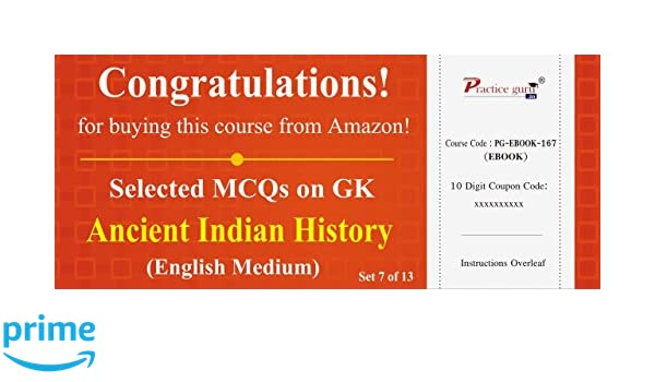 Practice guru selected mcqs on gk ancient indian history set 7 of practice guru selected mcqs on gk ancient indian history set 7 of 13 activation key card amazon software fandeluxe Image collections