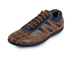 30s Impex Mens Blue Leather Shoes-8 UK