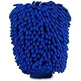 قفاز التيميت لغسيل السيارة - عبوة من قطعتين بحجم كبير جدًا - قفاز غسيل من الألياف الدقيقة من قماش الشنيل الممتاز - قفاز غسيل