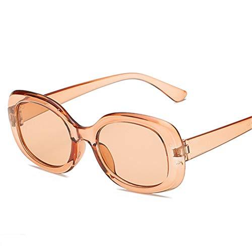GJYANJING Sonnenbrille Übergroße Sonnenbrille Frauen Oval Luxus Gelbe Sonnenbrille Mode Vintage Sonnenbrille Männer Shades Sonnenbrille Brille