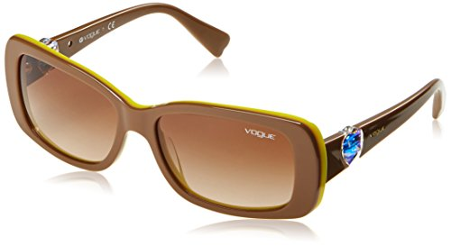 Vogue - vo2791sb, occhiali da sole unisex - adulto, marrone (light brown 206713), 55 mm (taglia produttore: 55 mm)