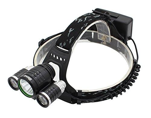 Genwiss CREE XM-L T6 LED 2 * Q5 LED 3000LM nachladbare Stirnlampe Kopflampe Stirnlampe Fahrradlicht Fahrradleuchte Fahrrad Licht (inklusive Akku und Ladegerät)
