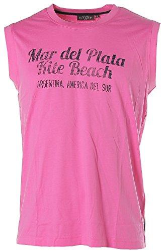 Kitaro Herren Armlos Shirt Muscle Shirt Top Rundhals Mar Del Plata Rosa