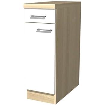 smartmoebel Küchen Unterschrank 30 cm breit Creme Weiß ...