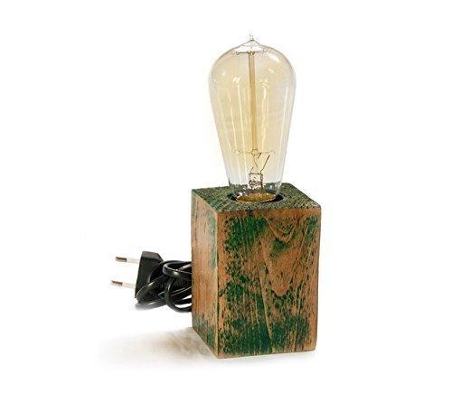 vintage-stil-grnen-tisch-lampe-und-bernstein-edison-glhbirnen-steckdose-mit-ein-ausschalter