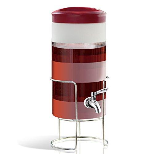 Fermenter Homebrew Bier & Wein, Flasche, Wein hohe Temperatur Abdichtung Tank, mit Wasserhahn, 31 * 16 * 16 CM (Platz für 5 kg Wasser)