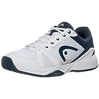 HEAD Men's Revolt Evo Tennis Shoes, White/Navy (US Size 9.5)