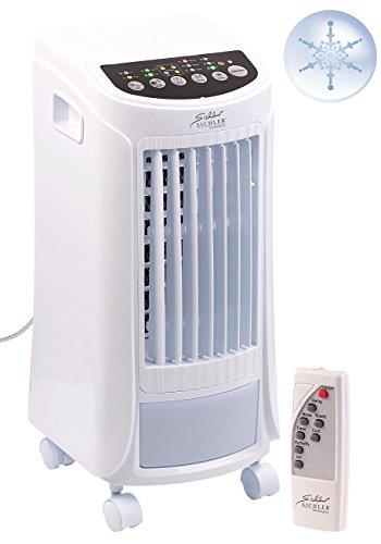 Sichler Haushaltsgeräte Raumkühler: 3in1-Luftkühler, Luftbefeuchter & Ionisator, Timer, Fernbedienung, 65W (Mobile Klimaanlage)
